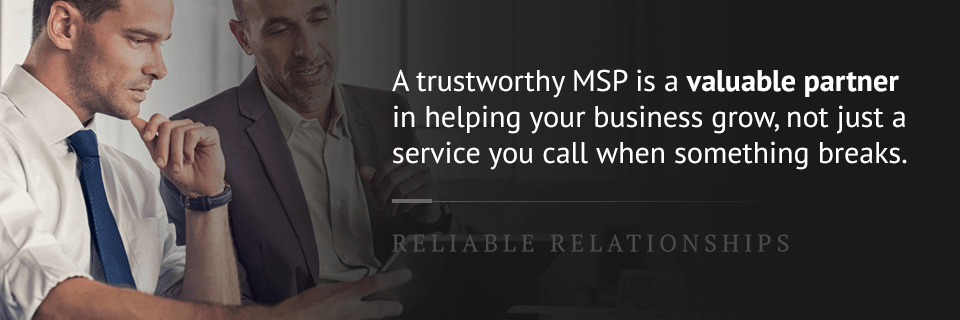 MSP is a valuable business partner