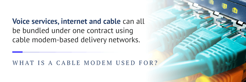 what is a cable modem used for
